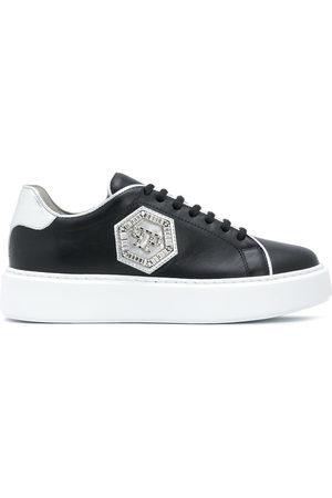 Philipp Plein Women Sneakers - Hexagon plaque low-top sneakers