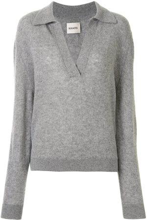 Khaite Fine-knit v-neck jumper