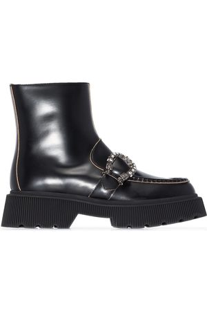 Gucci Tiger Head ankle boots