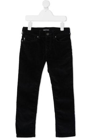 Emporio Armani Kids Slim-fit velvet trousers