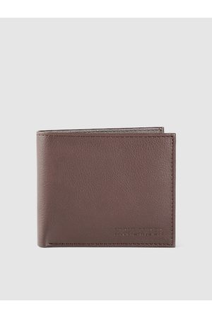 Highlander Men Coffee Brown Solid Two Fold Wallet