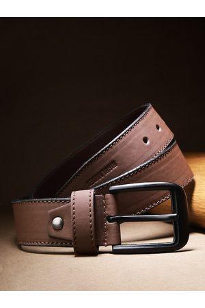 Highlander Men Coffee Brown Solid Belt