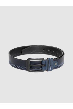 Highlander Men Navy Blue Solid Belt