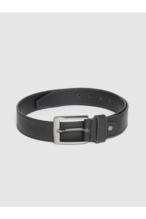 Highlander Men Black Solid Belt
