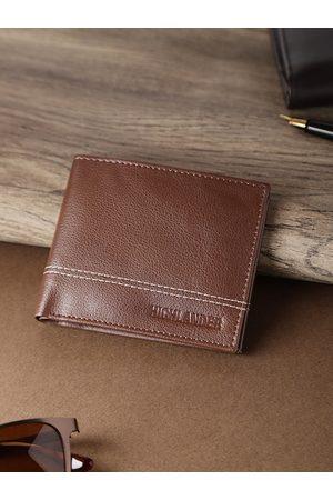 Highlander Men Coffee Brown Solid Two Fold Wallet