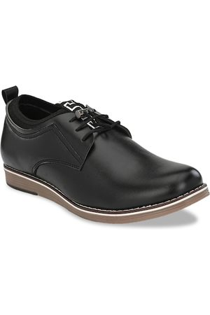 Sir Corbett Men Black Solid Derbys