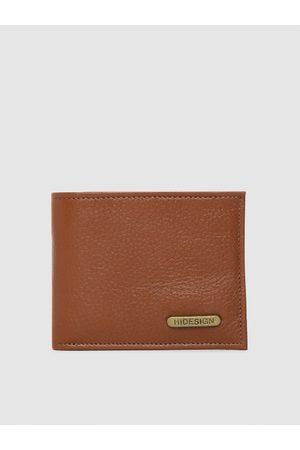 Hidesign Men Tan Solid Two Fold Wallet