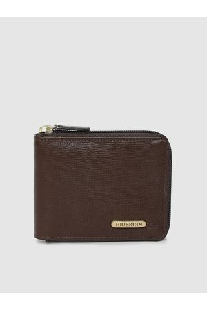Hidesign Men Brown Solid Manhattan Leather Two Fold Wallet