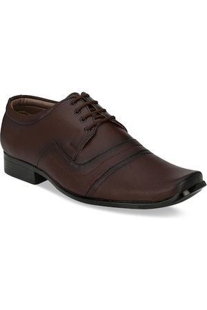 Sir Corbett Men Brown Solid Semiformal Derbys