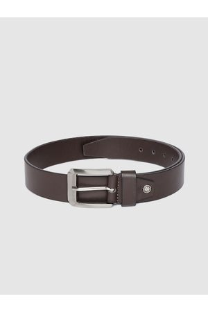 Highlander Men Coffee Brown Solid Belt