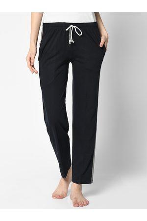 VIMAL JONNEY Women Navy Blue Solid Lounge Pants