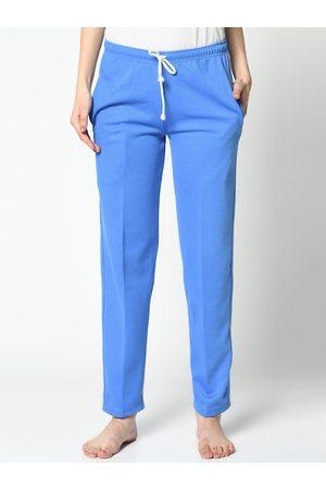 VIMAL JONNEY Women Blue Solid Lounge Pants