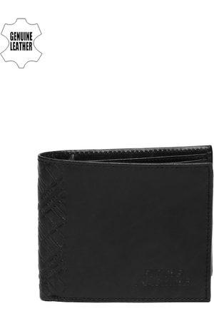 Flying Machine Men Black Leather Wallet