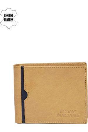 Flying Machine Men Tan Brown Leather Wallet