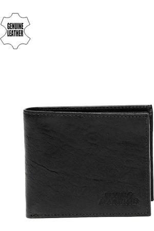 Flying Machine Men Black Genuine Leather Wallet