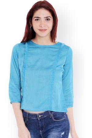 Style Quotient Women Tops - Women Blue Solid Top