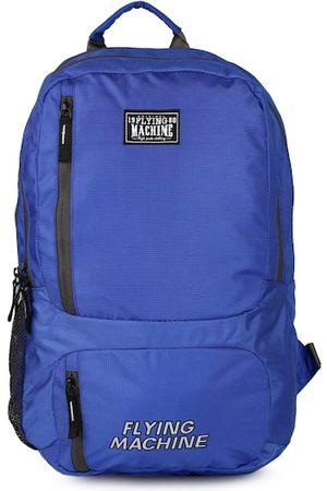 Flying Machine Men Blue Brand Logo Backpack