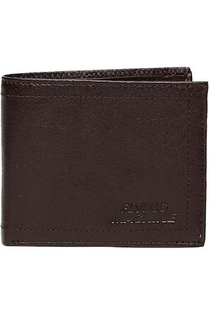 Flying Machine Men Brown Two Fold Leather Wallet
