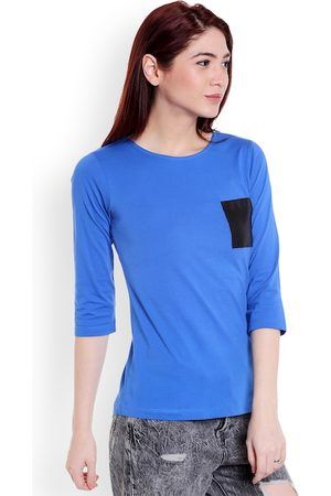Style Quotient Women Blue Solid Top