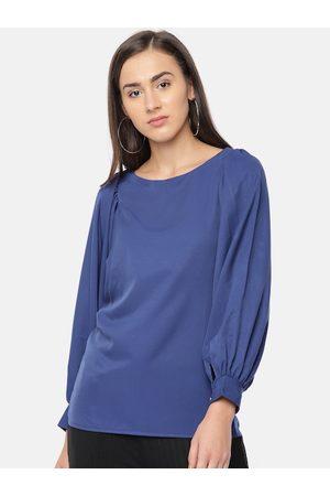 Style Quotient Women Blue Solid Regular Top