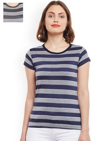 VIMAL JONNEY Women Set of 2 Striped T-shirts
