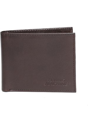 Flying Machine Men Coffee Brown Solid Two Fold Wallet