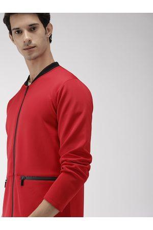 HARVARD Men Red Solid Jacket