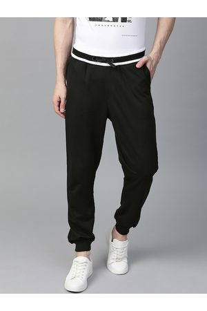 HARVARD Men Black Solid Joggers