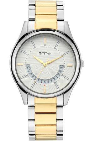 Titan Men White Analogue Watch 1713BM01