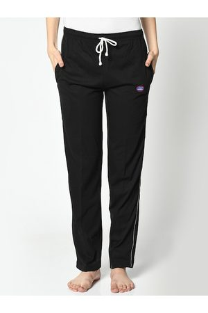 VIMAL JONNEY Women Black Solid Lounge Pants