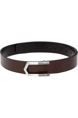 Carlton London Men Brown & Black Solid Reversible Leather Belt
