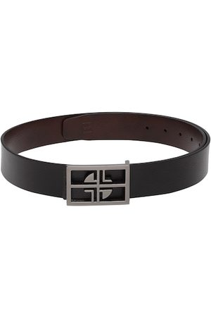 Carlton London Men Black & Brown Reversible Leather Solid Belt