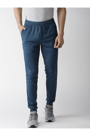 Alcis Men Navy Blue Solid Slim Fit Joggers
