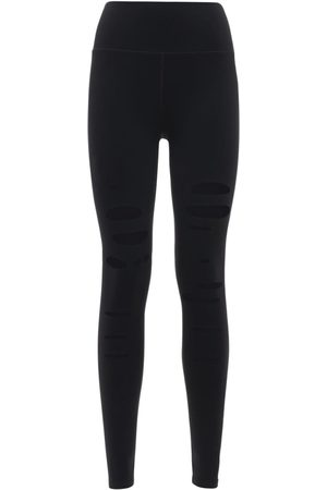 alo Women Leggings - Hw Ripped Warrior Leggings