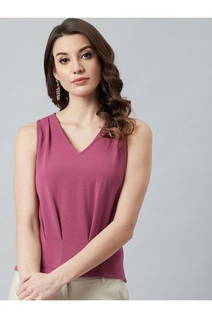 ATHENA Women Pink Solid Top