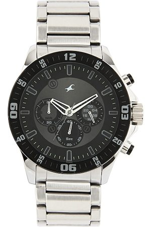 Fastrack Men Black Dial Chronograph Watch 3072SM01