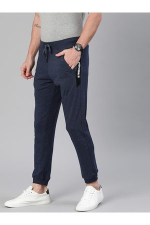 WROGN Men Navy Blue Solid Slim Fit Joggers