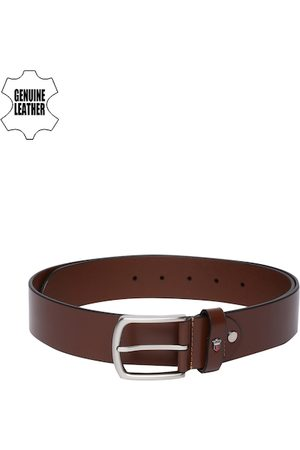 Louis Philippe Men Brown Genuine Leather Belt