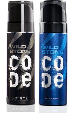 Wild stone Men Set of 2 Code Chrome & Ttitanium Perfumes