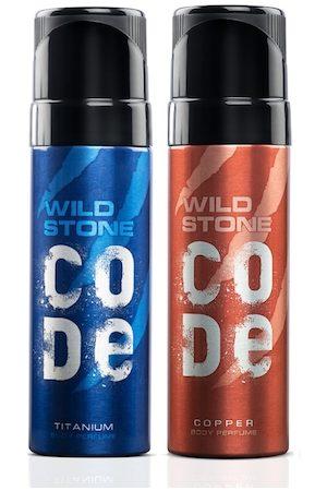Wild stone Men Set of 2 Code Copper & Titanium Perfumes