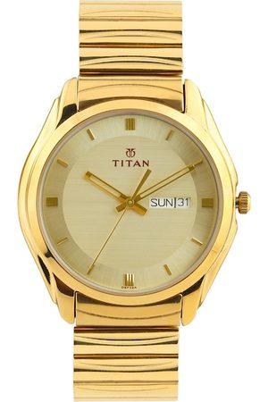 Titan Men Gold-Toned Dial Watch NF1578YM05