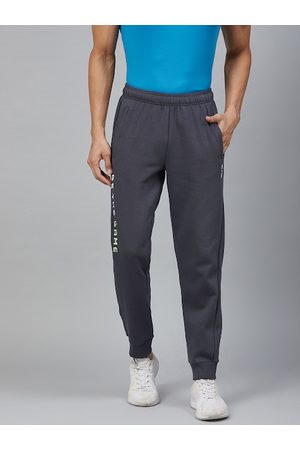 Alcis Men Charcoal Grey Solid Joggers