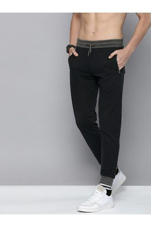 HERE&NOW Men Black Solid Regular Fit Joggers