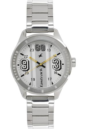 Fastrack Men Silver-Toned Analogue Watch 3177SM02