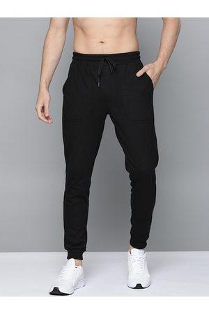 HARVARD Men Black Solid Straight Fit Joggers