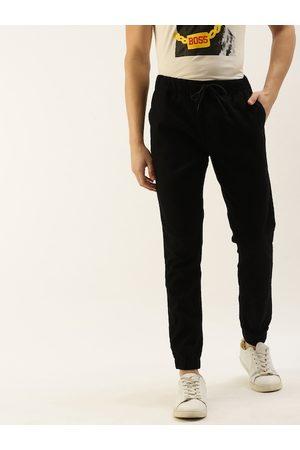 SINGLE Men Black Slim Fit Solid Joggers