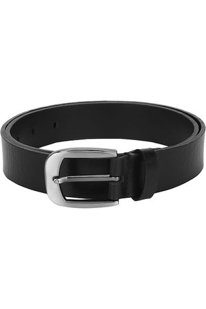 Aditi Wasan Men Black Textured Leather Belt