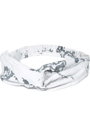 Blueberry Women Off-White & Grey Abstract Print Knot Hairband