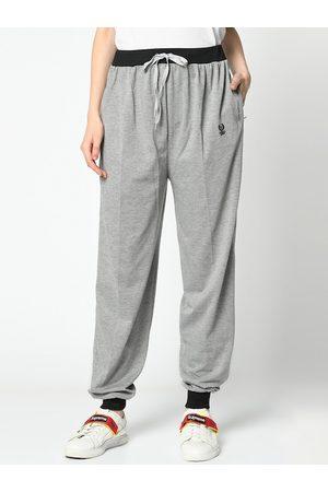 VIMAL JONNEY Women Grey Solid Joggers