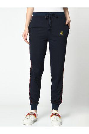 VIMAL JONNEY Women Blue Solid Joggers